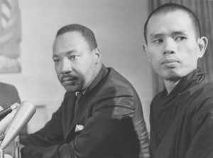 Thich Nhat Hanh with Martin Luther King, Jr.