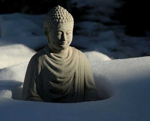 Shoveling Snow with Buddha